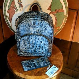 Brahmin Mini Dartmouth Backpack & Matching Wallet